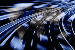 Data worldwide. Network and speed background royalty free stock photo