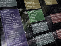 Database. Structure. Futuristic design with lighting effect