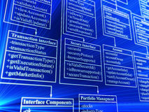 Database. Blue database structure - 3d background Stock Images