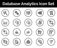 Database Analytics Icon SET Vector illustration. Vector Illustration. Easy TO use 100% vector design and vector file formats. 100% Professional Design Stock Image