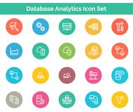 Database Analytics Icon SET Vector illustration. Vector Illustration. Easy TO use 100% vector design and vector file formats. 100% Professional Design Royalty Free Stock Image