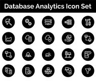 Database Analytics Icon SET Vector illustration. Vector Illustration. Easy TO use 100% vector design and vector file formats. 100% Professional Design Stock Photography