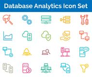Database Analytics Icon SET Vector illustration. Database Analytics Setting Icon SET Vector illustration Vector Illustration. Easy TO use 100% vector design and Stock Photo