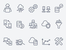 Database analytics icons Stock Images
