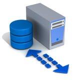 Database application server Stock Image