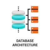 Database architecture icon Royalty Free Stock Photo