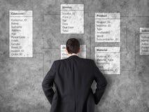 Database background with businessman Stock Photo