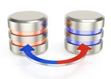 Database backup icon. On white background. 3d rendered image stock illustration