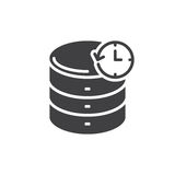Database backup icon vector, filled flat sign, solid pictogram isolated on white. Symbol, logo illustration. Pixel perfect stock illustration