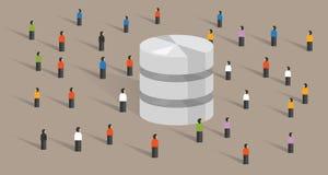Database big data server web hosting people crowd shared together Stock Photography