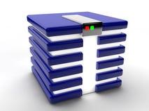 Database. Blue Symbolic database over white background Royalty Free Stock Images