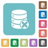 Database cancel flat icons