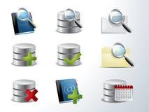 Database and catalog icon set. Vector database and catalog icon set vector illustration