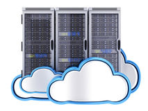Database and cloud Stock Photo