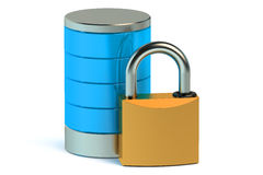 Database and computer data security concept Royalty Free Stock Photos