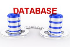 Database and computer data security concept Stock Photography