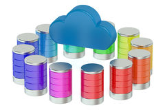 Database computing storage concept Royalty Free Stock Photos