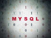 Database concept: MySQL on Digital Data Paper background Stock Photography