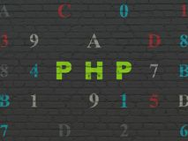 Database concept: Php on wall background Royalty Free Stock Image