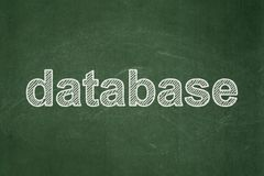 Database concept: Database on chalkboard background Stock Image