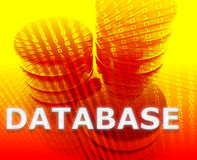 Database data storage. Abstract, computer technology concept illustration Stock Image