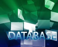 Database data structures. Networking web information architecture illustration Royalty Free Stock Image