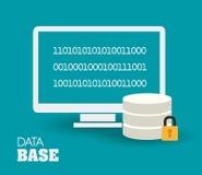 Database design, vector illustration. Royalty Free Stock Photography