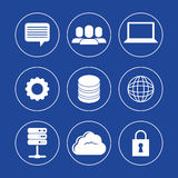 Database design, vector illustration. Royalty Free Stock Photos