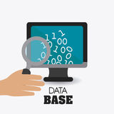 Database design, vector illustration. Royalty Free Stock Photos