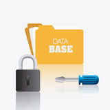 Database design, vector illustration. Royalty Free Stock Image