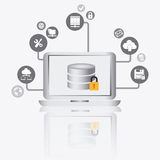 Database design, vector illustration. Stock Photos