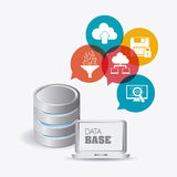 Database design, vector illustration. Stock Image