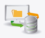 Database design, vector illustration. Royalty Free Stock Photo