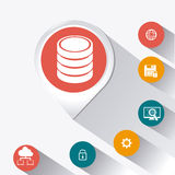Database design, vector illustration. Stock Photo