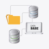 Database design, vector illustration. Stock Images