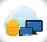 Database design, vector illustration. Stock Photos