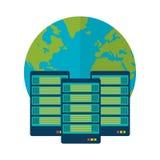 Database design, vector illustration. Royalty Free Stock Images