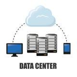 Database design, vector illustration. Royalty Free Stock Photo