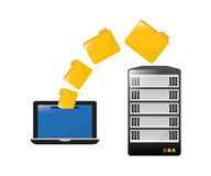 Database design, vector illustration. Royalty Free Stock Image
