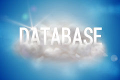 Database on a floating cloud Stock Images