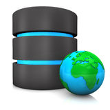 Database Globe Royalty Free Stock Photo