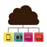 Database hosting icon stock. Image,  illustration design Stock Images