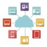 Database hosting icon stock. Image,  illustration design Royalty Free Stock Images