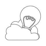Database hosting icon stock. Image,  illustration design Stock Image