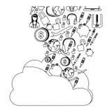 Database hosting icon stock. Image,  illustration design Royalty Free Stock Photo