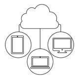 Database hosting icon stock. Image,  illustration design Stock Photography