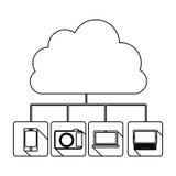 Database hosting icon stock. Image,  illustration design Stock Photo