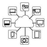Database hosting icon stock. Image,  illustration design Royalty Free Stock Image