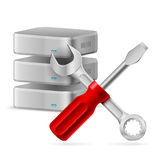 Database icon. Configuring Database icon. Illustration on white background for design Stock Images
