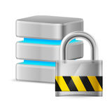 Database icon off Royalty Free Stock Photos